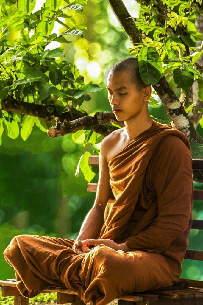 meditation, monk meditating, theravada buddhism